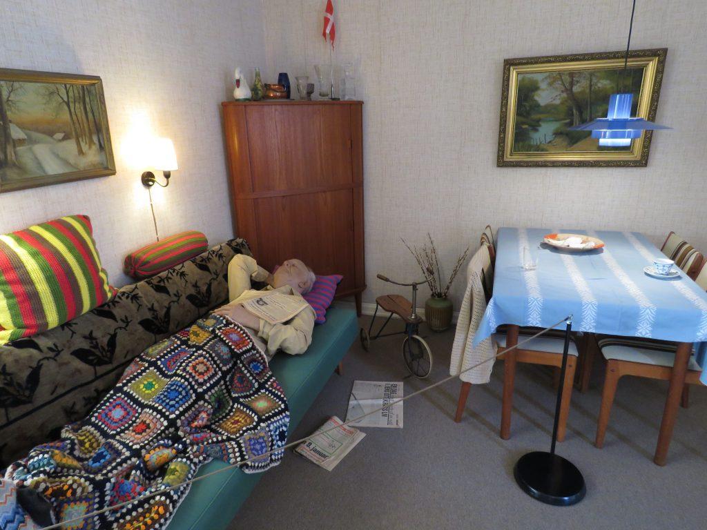 Dziadek jak żywy w Den Gamle By w Aarhus