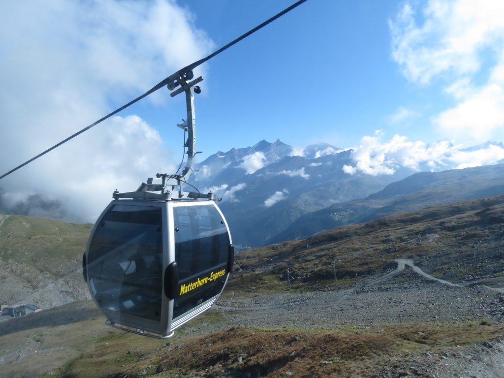Kolejka linowa na Klein Matterhorn